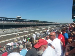 Friday at Indianapolis Motor Speedway. You can see the Yard of Bricks